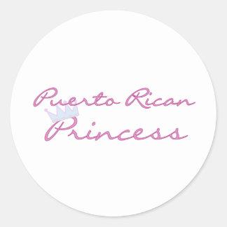 Puerto Rican Princess Classic Round Sticker