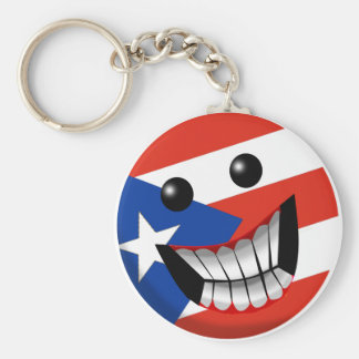 Puerto Rican Smile Key Ring