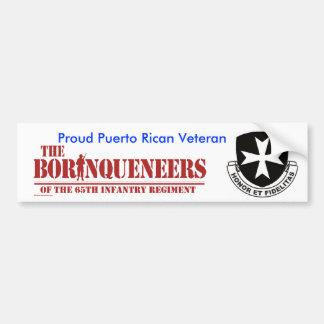 Puerto Rican Veteran 2 - Bumper Sticker