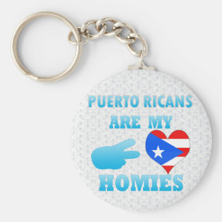 Puerto Ricans are my Homies Key Ring