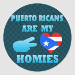 Puerto Ricans are my Homies Round Stickers