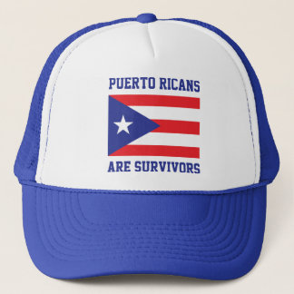Puerto Ricans are survivors statement flag Trucker Hat