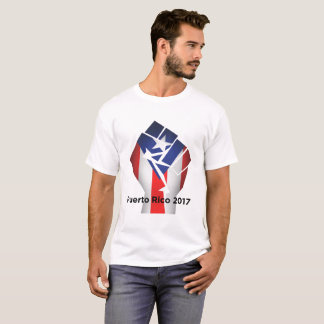Puerto Rico, 2017, Fist with Puerto Rican Flag T-Shirt