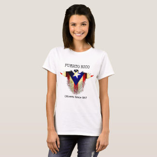Puerto Rico, 2017  Grunge Eagle with PR Flag T-Shirt
