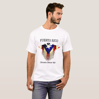 Puerto Rico, 2017, Grunge Fist with Flag T-Shirt