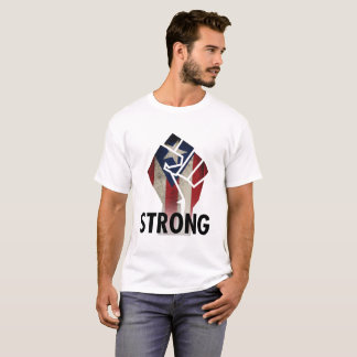Puerto Rico, 2017, Strong with Grunge Fist T-Shirt