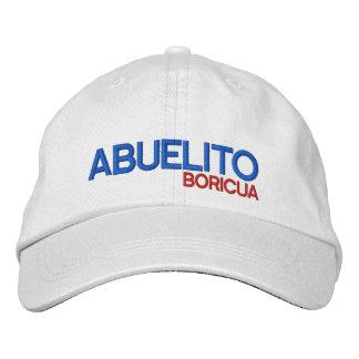 Puerto Rico Abuelito Boricua Embroidered Baseball Cap