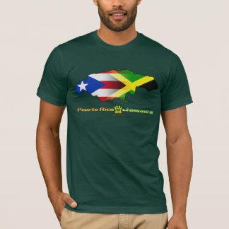 Puerto Rico and Jamaica Flag 2 T-Shirt