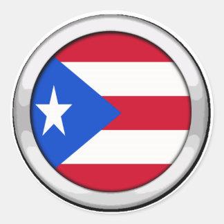 Puerto Rico Badge Classic Round Sticker
