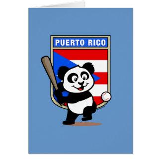 Puerto Rico Baseball Panda Card