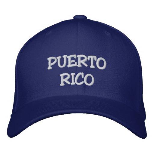 Puerto Rico-Basic Flexfit Wool Cap Embroidered Baseball Caps