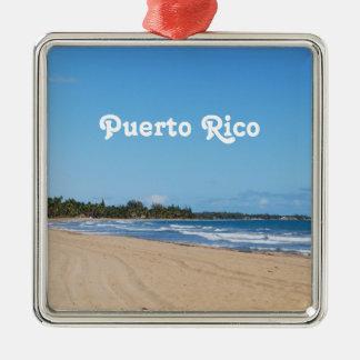 Puerto Rico Beach Christmas Ornament