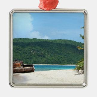 Puerto Rico Beach Tank Christmas Ornament