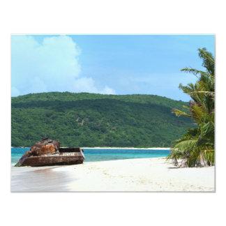 Puerto Rico Beach Tank 4.25x5.5 Paper Invitation Card