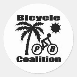 "Puerto Rico Bicycle Coalition Round Sticker 1.5"""