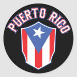 Puerto Rico Big and Bold Classic Round Sticker