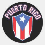 Puerto Rico Big and Bold Classic Round Sticker