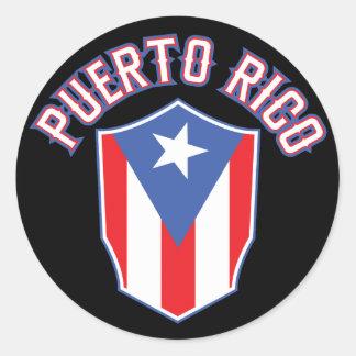 Puerto Rico Big and Bold Round Sticker