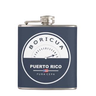 Puerto Rico Boricua de Pura Cepa Hip Flask
