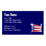Puerto Rico Brush Flag Pack Of Standard Business Cards