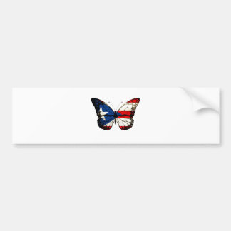 Puerto Rico Butterfly Bumper Sticker