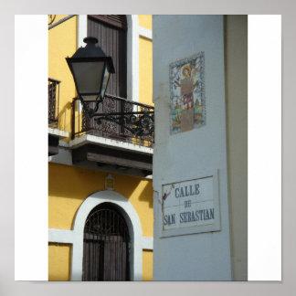 Puerto Rico Calle San Sebastian Poster