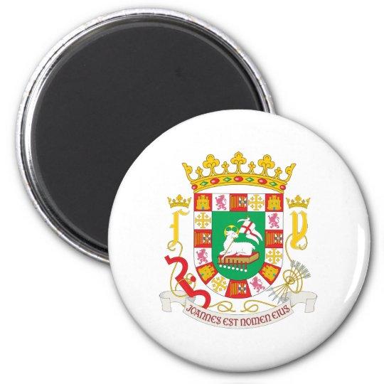 Puerto Rico Coat Of Arms 6 Cm Round Magnet