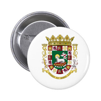 Puerto Rico Coat of Arms Pinback Buttons