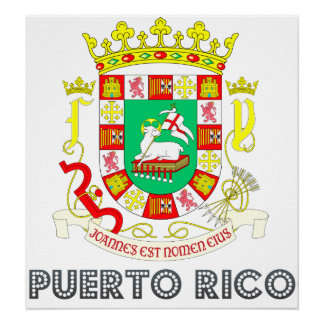 Puerto Rico Coat of Arms Print