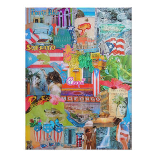 Puerto Rico Collage Poster