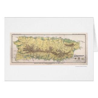 Puerto Rico Crop Map 1899 Card