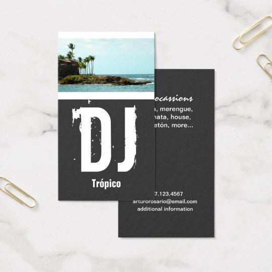 Puerto Rico DJ Business Card