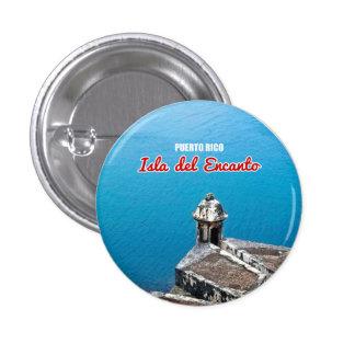 Puerto Rico: El Morro Travel Souvenir 3 Cm Round Badge