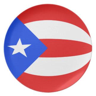 Puerto Rico Fisheye Flag Plate