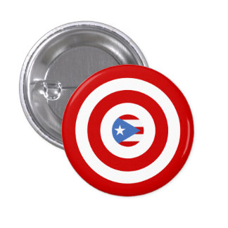 Puerto Rico Flag: Bullseye Novelty Pin