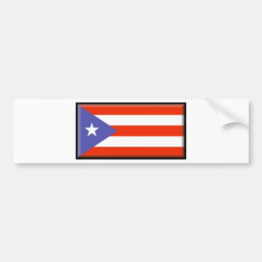 Puerto Rico Flag Bumper Stickers
