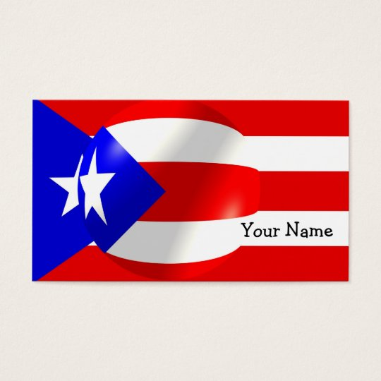 Puerto Rico Flag Business Card
