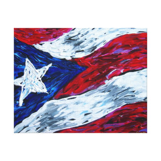 Puerto Rico Flag Gallery Wrapped Canvas