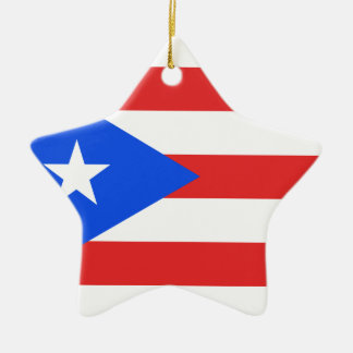Puerto Rico Flag Christmas Ornament