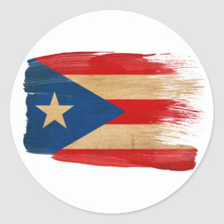 Puerto Rico Flag Classic Round Sticker