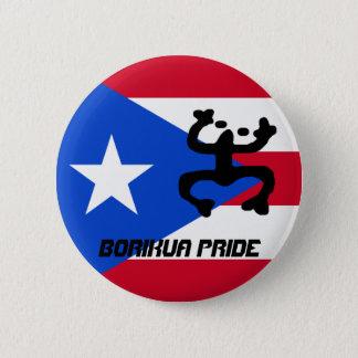 Puerto Rico Flag & Coqui Button