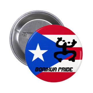 Puerto Rico Flag & Coqui Button