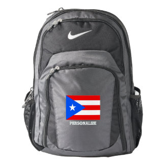 Puerto Rico flag custom Nike backpack