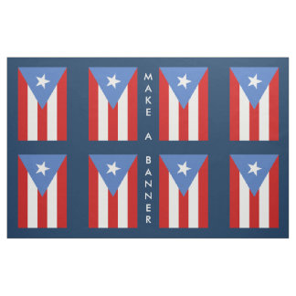 Puerto Rico Flag: Decoration Fabric