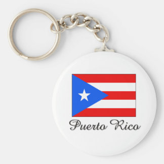 Puerto Rico Flag Design Key Ring