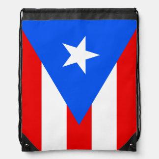 Puerto Rico flag drawstring backpack bag