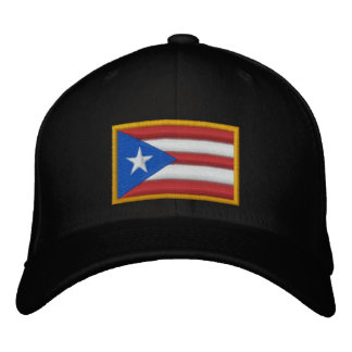 Puerto Rico Flag Embroidered Hat