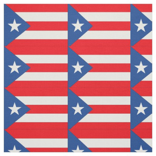 Puerto Rico Flag Fabric