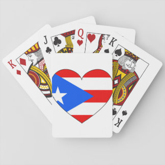 Puerto Rico Flag Heart Playing Cards