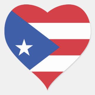 Puerto Rico Flag Heart Sticker